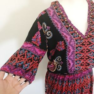 Angie Tops - Angie colorful boho style tunic top